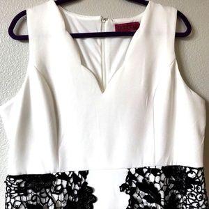 Boohoo Plus Lottie Lace Detail Dress